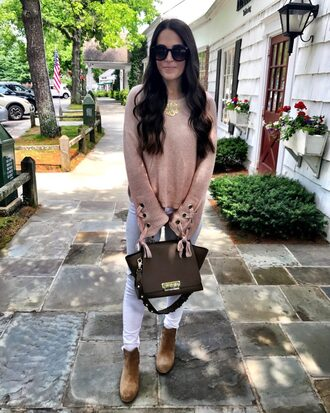 mrscasual blogger sweater shoes bag jeans jewels sunglasses