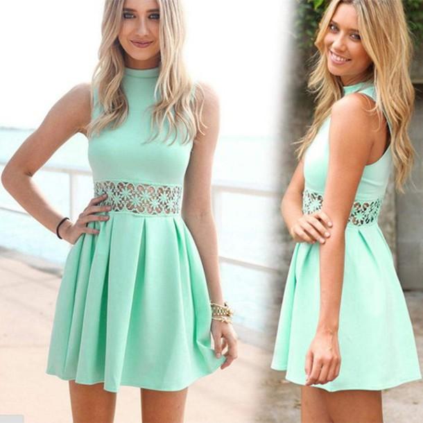dress mint mint dress green dress green lace lace dress min dress  sleeveless dress skater dress 80a4967ef
