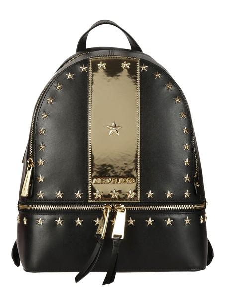 Michael Kors studded backpack studded backpack gold black bag