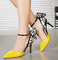 Aliexpress.com : buy 2015 hot selling black/yellow/purple colour fashion shoes pointed toe high heeled thin heels sexy ladies party shoes from reliable shoe carnival shoes suppliers on anna's world.