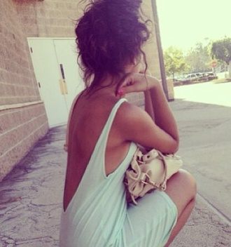 dress top tank top open back open back dress open backed dress open back shirt turquoise v back