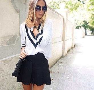 sweater pullover white white pullover black black pullover