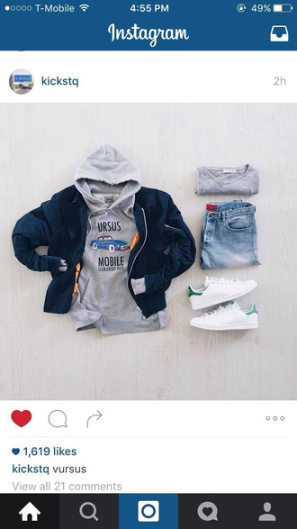 jacket blue yeet jeans shoes boy clothes