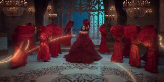 dress amazing dress ariana grande beauty and the beast ariana grande dress red red dress rosedress burgundy rose dress