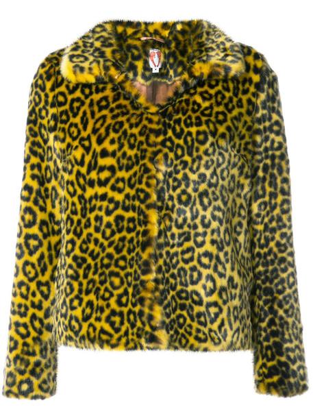 Shrimps coat leopard print coat women print yellow orange leopard print