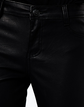 New Look | New Look Leather Look Pant at ASOS
