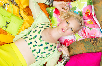 shirt nasty gal nastygal nasty gal lookbook may 2012 lookbook may lookbook neons crop tops jewelry arm party mini mac rebecca minkoff bag jacket