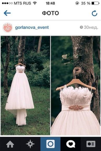 dress wedding dress white dress wedding clothes