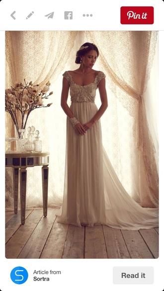 dress wedding lace bride cream groom wear beautiful wedding dress vintage dress vintage wedding dress cream dress fashion marriage vintage