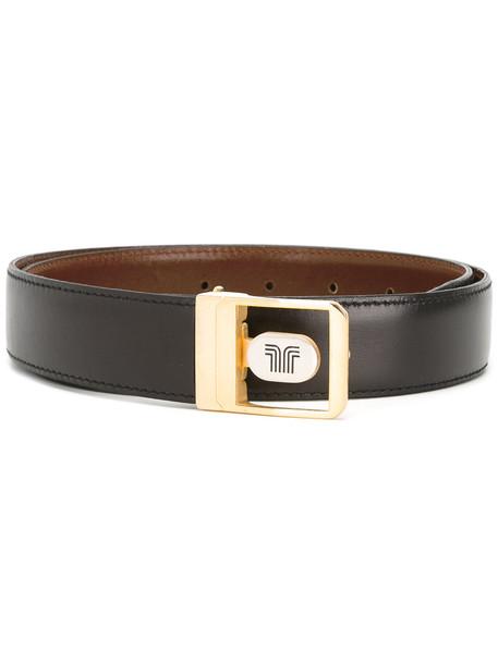 Lanvin Vintage logo buckle belt - Brown