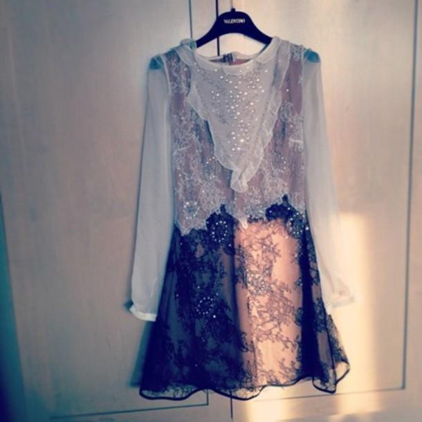 dress details grey black dress grey dress sheer see through dress jeweled dress