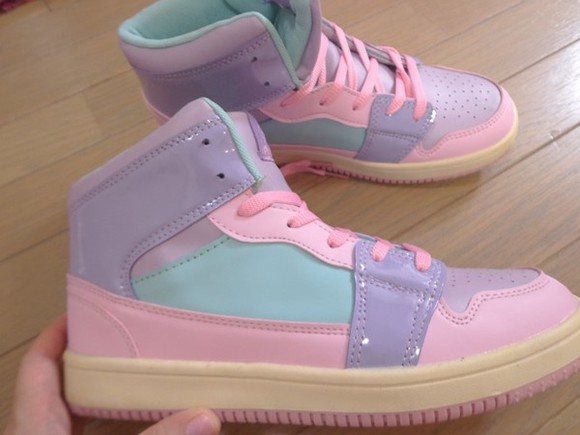 pastel shoes kawaii sneakers pastel pink