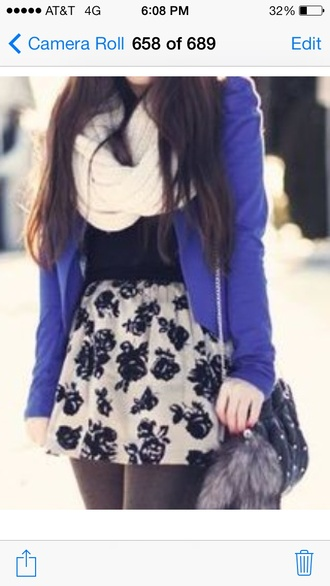 jacket purple jacket coat purple blazer skirt rose skirt outfits winter outfits cute outfits all cute outfits leggings tights black leggings black tights scarf white scarf
