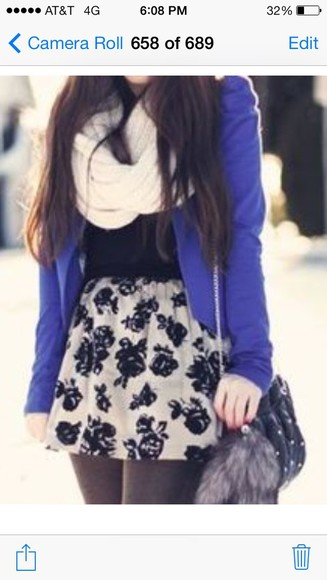 scarf white scarf coat jacket purple jacket purple blazer skirt rose skirt outfits winter outfits winter outfit cute outfits all cute outfits leggings tights black leggings black tights