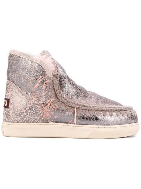 women embellished boots grey metallic shoes