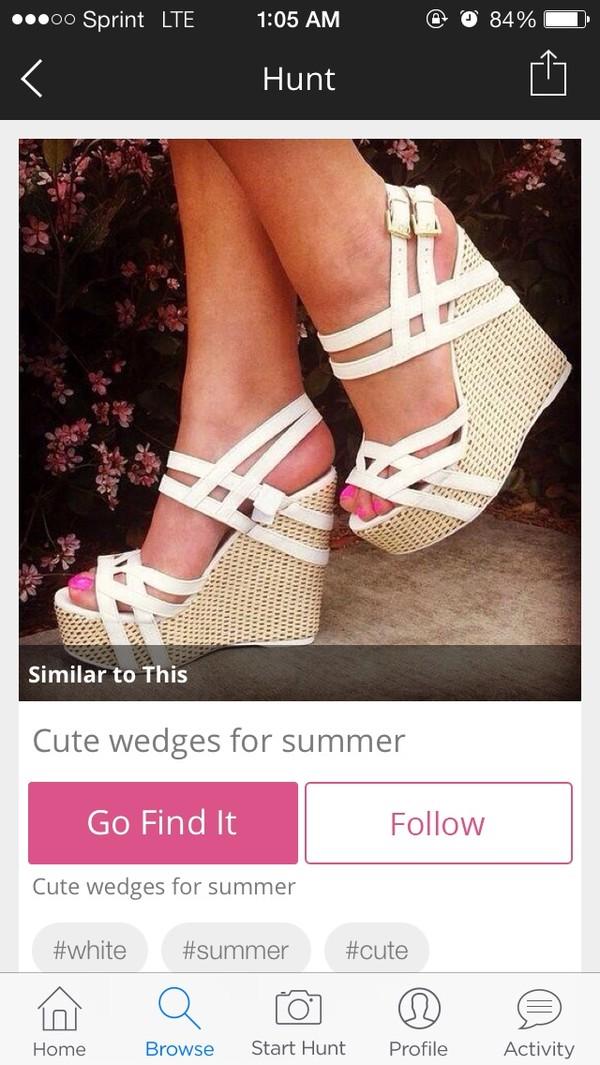 shoes heels heel white summer spring wedges white wedges sexy wedges sexy wedge heels