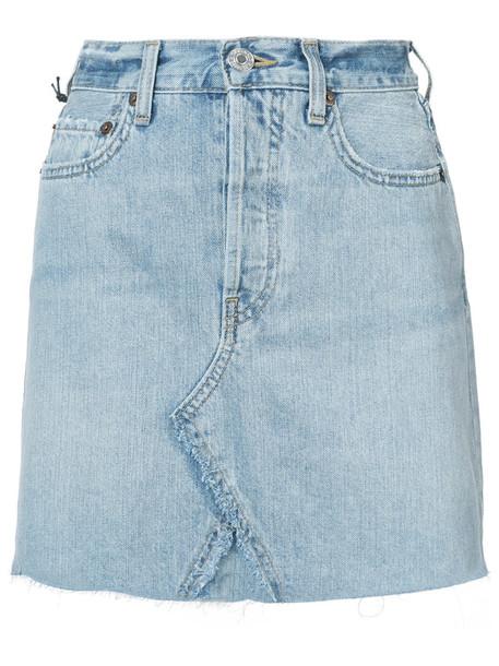 skirt high waisted skirt high waisted high women cotton blue