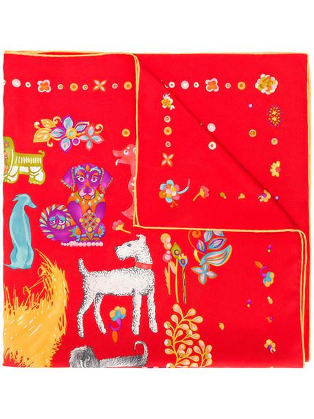 Salvatore Ferragamo women new chinese scarf silk yellow orange