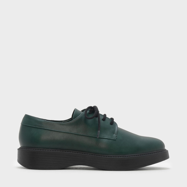 flats lace green shoes