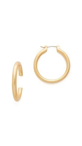ebf09735ea94d Madewell Chunky Hoop Earrings - Vintage Gold