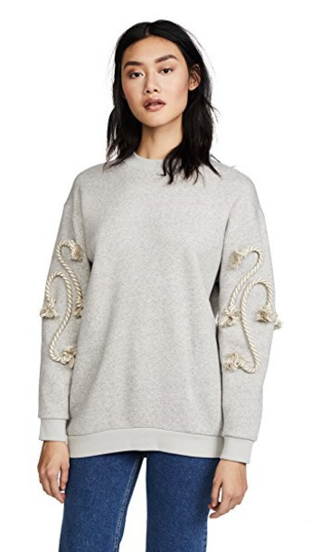 See by Chloe sweatshirt grey sweater