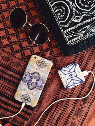 phone cover yellow tumblr purple floral phone case colourful print print stylish