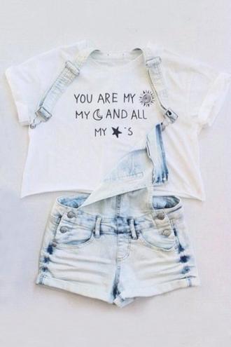 t-shirt beautiful halo white trendy denim fashion girly style acid wash white crop tops
