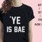 Ye ' bae tumblr blogger instagram colore felice camicia, camicia di tumblr