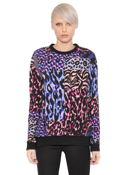 VERSACE sweatshirt cotton print sweater
