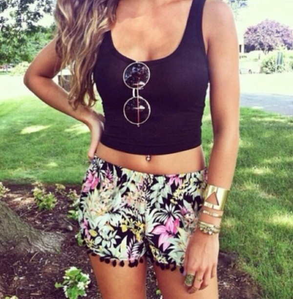 sunglasses shorts pants
