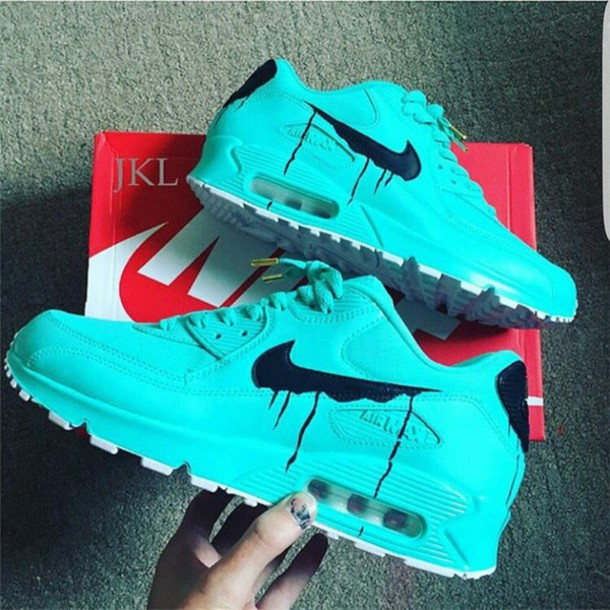df004da644 shoes nike nike air max 90 turquoise sneakers