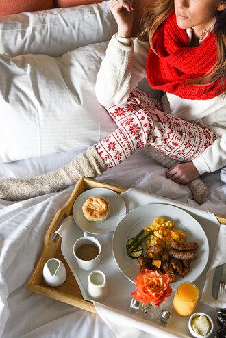 pajamas christmas pajamas christmas holiday season holiday gift scarf knitted scarf socks