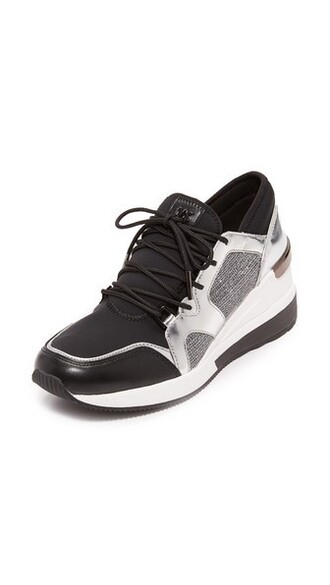 metallic sneakers silver black shoes