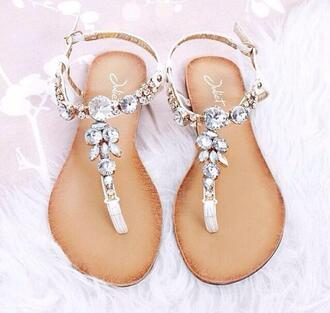 shoes sandals glitter bling shoes bling silver fashion summer shoes