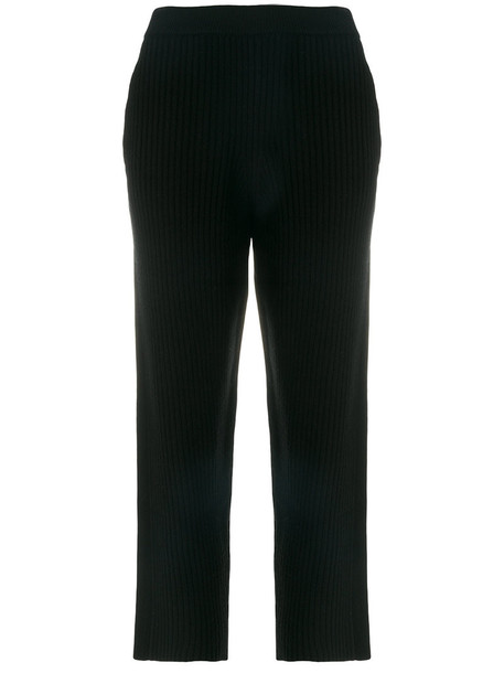 Joseph cropped women spandex black wool pants