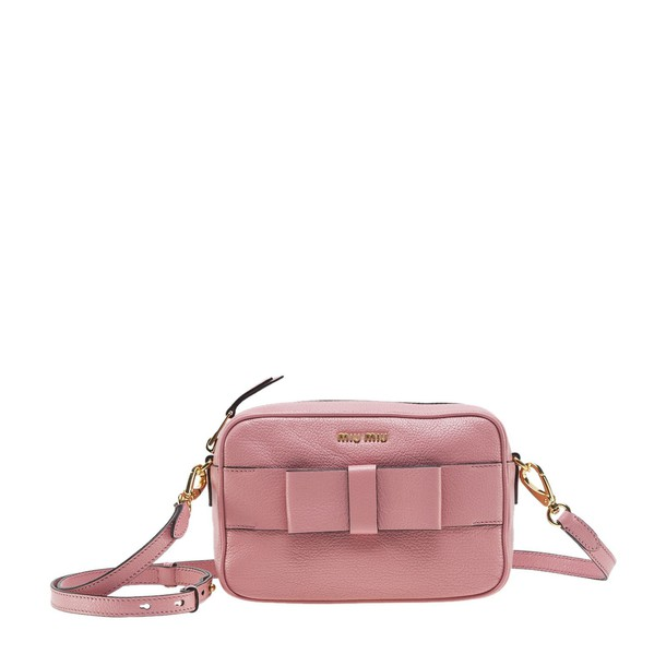 bow embellished bag pink