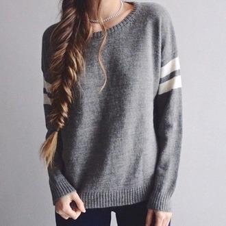 sweater grey white stripes