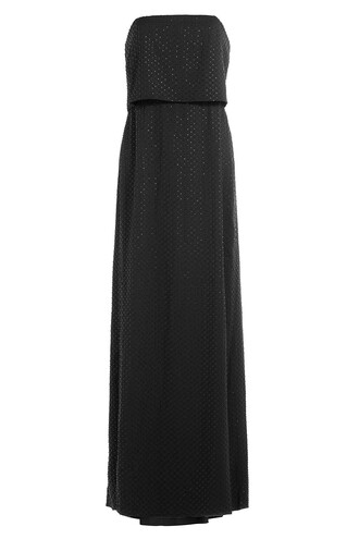 gown strapless black dress