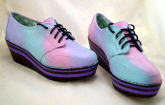 platform shoes pastel pastel goth grunge pastel pink pink pastel creepers creepers purple blue black pastel purple fancy