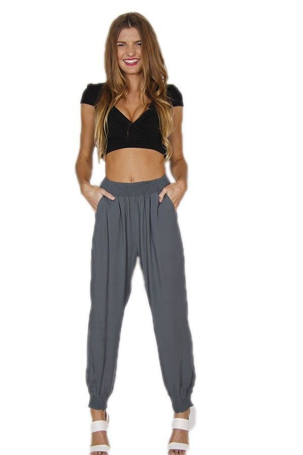 olive pants loose fit pants lounge pants low crotch cropped ankles www.ustrendy.com