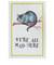 Mrs moore multicolour cheshire cat cotton tea towel