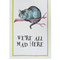 Mrs moore multicolour cheshire cat cotton tea towel | home | liberty.co.uk