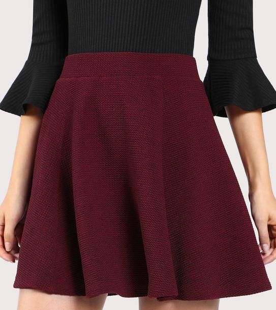 skirt girly burgundy burgundy skirt knit mini mini skirt
