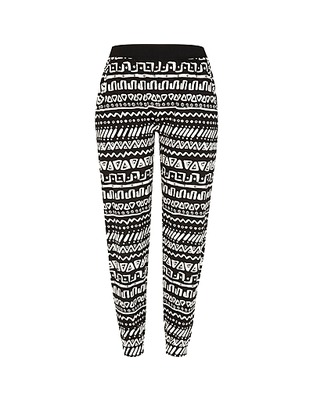 ASOS Fashion Finder | Black tribal print joggers