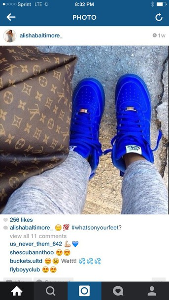shoes royal blue high top nike