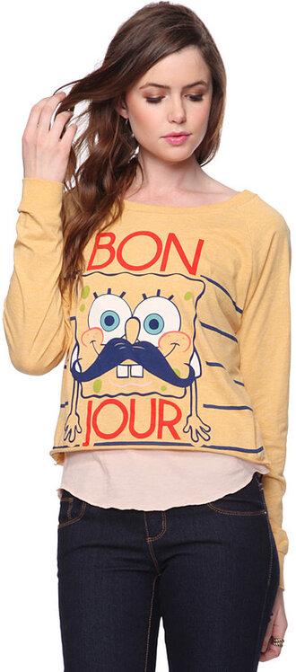 t-shirt spongebob sponge bob yellow