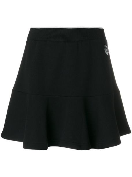 Kenzo skirt skater skirt women skater cotton black