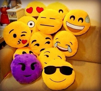 home accessory smiley pillow emoji pillow