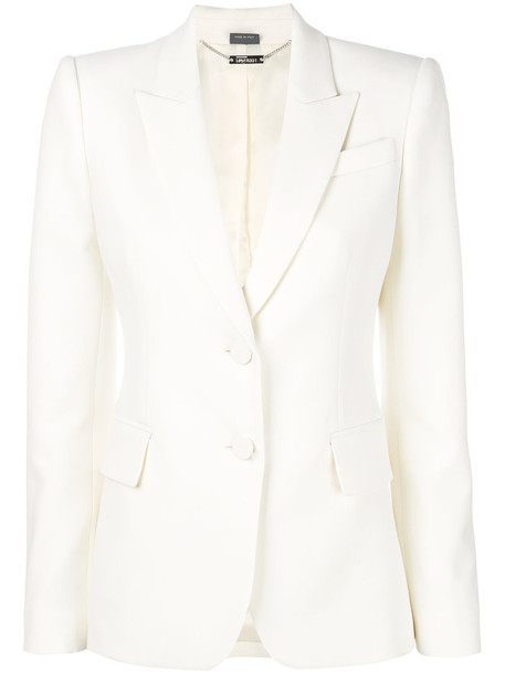 blazer women white silk wool jacket