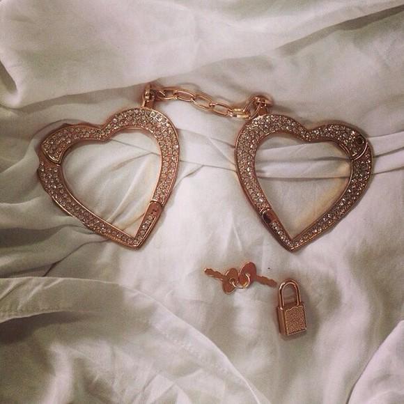 hearts jewels handcuffs